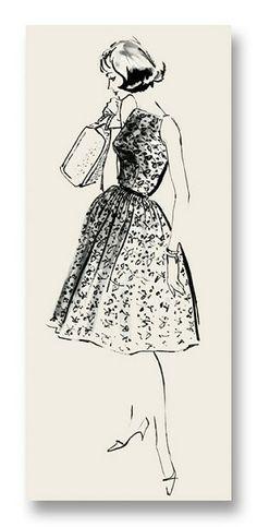 ideas fashion illustration vintage sketchbooks art styles for 2019 Fashion Illustration Vintage, Illustration Art, Fashion Illustrations, Fashion Plates, Art Sketchbook, Vintage Barbie, Fashion Sketches, Note Cards, Vintage Dresses