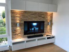 Ahşap duvar tv Ahşap duvar tv The post Ahşap duvar tv appeared first on Holz ideen. Living Room Ideas 2019, Living Room Tv Unit Designs, Ikea Living Room, Tv Wall Design, House Design, Wall Behind Tv, Tv Wanddekor, Modern Tv Wall, Rack Tv