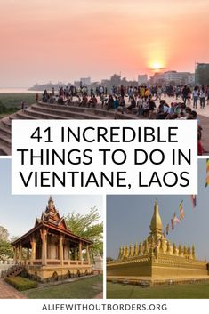 The ultimate Vientiane travel guide – includes the best things to do in Vientiane, Laos, hidden Vientiane, Vientiane day trips, and where to eat and drink. #Vientiane #Laos | Vientiane Day Trips | Laos Travel | Things to do in Vientiane | Buddha Park | Patuxay | That Luang | COPE | ALWB Laos Culture, Pakse, Stuff To Do, Things To Do, Laos Travel, Laos Food, Without Borders, Vientiane, Luang Prabang