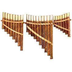 Panpipes ensemble de trois, bois, longueur: 26, 21 du grossiste et import