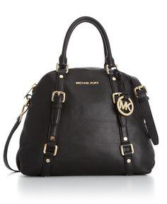 $398 MICHAEL Michael Kors Handbag, Bedford Bowling Satchel - Michael Kors Handbags - Handbags & Accessories - Macys