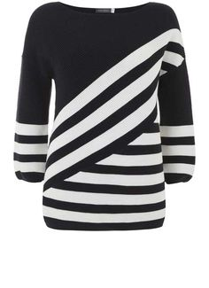Ink Diagonal Stripe Knit