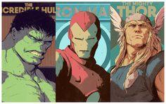 Retratos de los Avengers