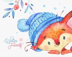 Amici di inverno. Insieme di caratteri dell'acquerello