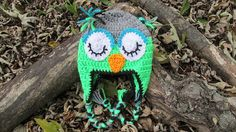 Teen or Adult Owl Hat Teen Girl Owl Hat by TheFlyButterFactory, $21.95