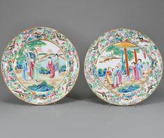 Par de pratos em porcelana Chinesa da segunda metade do sec.19th, 26cm de diametro, 950 USD / 850 EUROS / 3,290 REAIS / 5,780 CHINESE YUAN https://soulcariocantiques.tictail.com