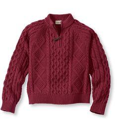 Kids' Fisherman Sweater, Quarter-Zip: Sweaters | Free Shipping at L.L.Bean Kids Fashion Boy, Boys Wear, Ll Bean, Grandchildren, Kids Boys, Men Sweater, Style Inspiration, Pullover, Free Shipping