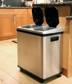 20 Kitchen gadgets you didn't know you needed: Touchless garbage and recycling bin in one