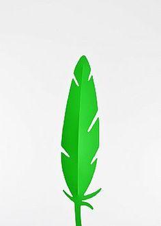 Feeling Tropical - Διακοσμητικό φτερό PVC Πράσινο 42x10cm Plant Leaves, Plants, Plant, Planets