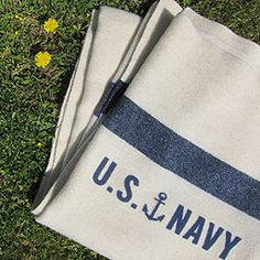 New U.S. Navy blanket, produced by Fairbault Woolen Mills for Three Potato Four.