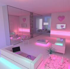 Tired of it the same 20 approximate DIY ideas for the teenage room decoration Zimmer deko ideen Cute Bedroom Ideas, Girl Bedroom Designs, Room Ideas Bedroom, Awesome Bedrooms, Cool Rooms, Dream Bedroom, Neon Bedroom, Teen Bedroom Colors, Barbie Bedroom