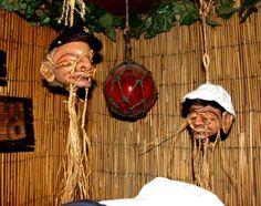 Shrunken Head Art | Kirby's SS Minnow sharing space with the Tonga Hut's drooling bastard ...
