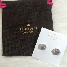 Kate Spade Glitter Gumdrop Earrings Kate Spade glitter gumdrop earrings. 14 karat gold filled posts. Silver. Price firm unless bundled. kate spade Jewelry Earrings