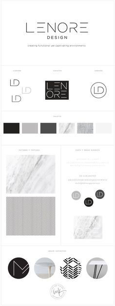Brand Launch: Lenore Interior Design - Salted Ink Design Co. | logo, brand, branding, design, brand stylist, brand board | www.saltedink.com: