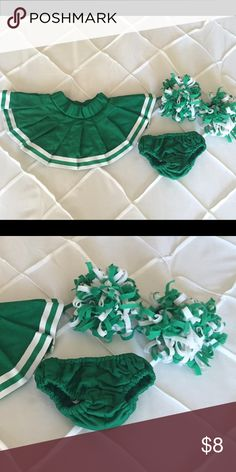 Build-A-Bear Cheer Skirt Set Used Build-A-Bear cheer skirt, bloomers and pom pom set. Good condition. Smoke free home. Build-A-Bear Accessories