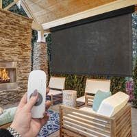 Buy Outdoor Window Treatments Online at Overstock | Our Best Outdoor Decor Deals Decor, Outdoor Decor, Porch Shades, Patio Sun Shades, Decor Deals, Sun Shade, Outdoor Blinds, Patio Store, Solar Shades
