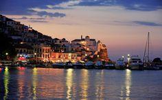 Solnedgang over Skopelos er noget helt unik at opleve. Farvene er simpelthen så smukke. Se mere på www.apollorejser.dk/rejser/europa/graekenland/skopelos