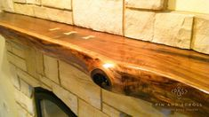 Live Edge Walnut Slab Mantel with Butterfly Joints 01