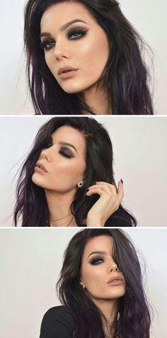 New hair color plum linda hallberg Ideas Eye Makeup Tips, Love Makeup, Beauty Makeup, Makeup Looks, Hair Makeup, Hair Beauty, Black Makeup, Makeup Ideas, Scene Makeup