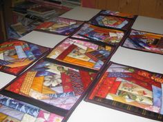 Crazy Quilt Table Runner and Placemats by HomeGrownWarmth on Etsy, $35.00