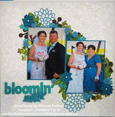 Aussies Who Love Stampin Up Colour Challenge, Delightfully Detailed laser Cut Specialty Paper, May Flowering Framelits, Falling Flowers Stamp Set, Bouquet Bunch Framelits, Layering Alphabet Edgelits, Stampin' Up!, CreativeMe68, Studio Shabaz, Scrapbooking, Scrapbooking Global - Stampin' Up!
