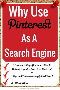 6 Awesome Ways you can Follow to Optimize Guided Search on Pinterest. #guidedsearch #PinterestStrategy