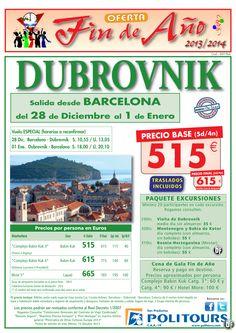Fin de Año DUBROVNIK salida 28/12 desde Barcelona ( 5d/4n) precio final 615€ ultimo minuto - http://zocotours.com/fin-de-ano-dubrovnik-salida-2812-desde-barcelona-5d4n-precio-final-615e-ultimo-minuto-2/