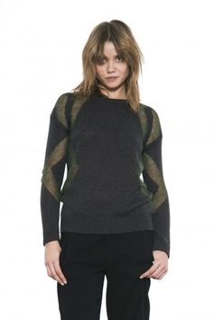 Asha Pullover by one grey day- Asha is an OGD take on the classic baseball tee - fully expressing the tomboy side of you with a straight, body skimming silhouette and contrasting bands mirroring each other on the raglan seam and around the elbows. Tomboy, Turtle Neck, Pullover, Hoodies, Fall 2015, Grey, Sweaters, Bands, Shirts