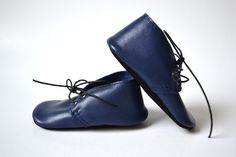 Handmade soft sole leather baby shoes / Baby boy oxford by MiniMos