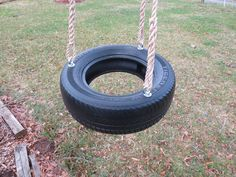 Deluxe Spinning 3 Rope Tire Swing,We use rope rather than chain it is softer on the handsof the little ones. Rope is 100% Polypropylene it has UV