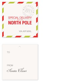 North Pole Tags