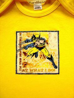 Yellow Wolverine X-Men Baby Onesie Size 6-12 Months. 18.50, via Etsy.