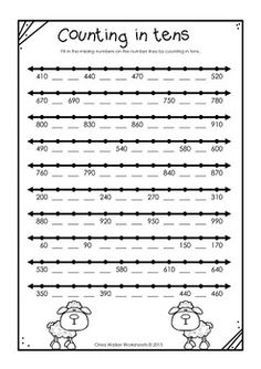 Numbers to 1000 in skip counting in ones, fives, tens, and hundreds worksheets - Skip Counting Activities, Math Activities, Math Games, Science Worksheets, Math Resources, Second Grade Math, Math Numbers, Math Notebooks, Homeschool Math