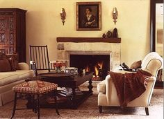 love the fireplace and rocker