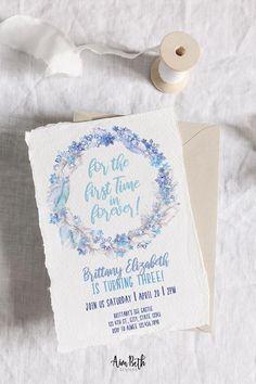 Frozen Inspired Birthday Party Invitation - #frozenbirthday #frozen #frozenparty #elsa #ana #olaf #winterbirthday #girlbirthdayparty #birthdayparty #birthday #editable #template #digitaldownload #invite #invitation #frozeninvitation #frozeninvite #thirdbirthday #3rdbirthday