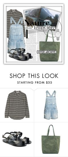"""""""Naturaleza"""" by fabfabiana ❤ liked on Polyvore featuring Elizabeth and James, Polaroid, H&M, Hedi Slimane, Radcliffe, Ancient Greek Sandals and Topshop"""