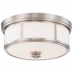 Traditional Urban Drum Flush Mount Ceiling Light | Maybe something different for the kitchen?