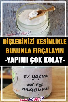 Toothpaste is very easy to make at home, both teeth are white, no harmful effects like ready-made toothpastes pasteEvdedişmac the # # # dişmacunuyapımmalz me of my dişmacunuyapı # Homemade Toothpaste, Natural Toothpaste, Banana Split, Bath Body Works, Teeth Care, Skin Care, Homemade Soap Bars, Ayurvedic Recipes, Natural Health Remedies