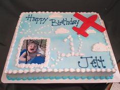 1st Birthday Airplane Themed Sheet Cake @sugarshackscia
