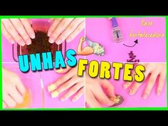 8 RECEITAS CASEIRAS PARA UNHAS FORTES   Jana Taffarel - YouTube