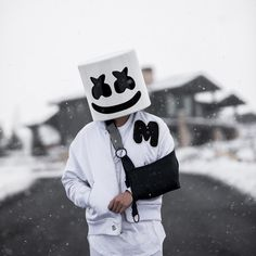 15 best videos by marshmello Cute Black Wallpaper, Joker Hd Wallpaper, Black Background Wallpaper, Love Background Images, Cute Anime Wallpaper, Marshmallow Pictures, Marshmallow Face, Dp Photos, Cool Photos