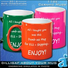 This Funny Mug is a true Last Minute Gift for by AvidImagination