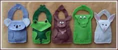Animal bags out of felt Tote Pattern, Bag Patterns, Australia Crafts, Animal Bag, Tree Frogs, Stuffed Animal Patterns, Felt Crafts, Crocs, Purses And Bags