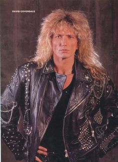 OMG David Coverdale-Whitesnake - big hair, leather jacket, big voice and personality Big Hair Bands, Hair Metal Bands, David Coverdale, Heavy Rock, Heavy Metal, Rock N Roll Music, Rock And Roll, Whitesnake Band, Rock Revolution