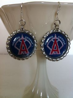 Anaheim Angels earrings from my Etsy shop https://www.etsy.com/listing/185239934/anaheim-angels-earrings-anaheim-angels