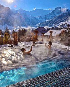 """The Cambrian Hotel Ski Resort and Spa, Switzerland. Via @Success.Coach   By @loucosporviagem"""