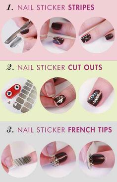 DIY a party nail with metallic nail stickers.