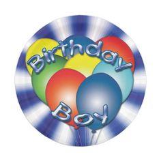 Birthday Boy Balloons Blue Party Plates #kidsbirthday #birthdays #zazzle
