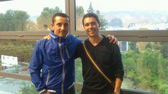 Con mi amigo y compañero Fabián Villena antes de la presentación de algunos proyectos finales de la  III Edición del Master en Dirección de Marketing y Comunicación Empresarial UPV (MACOM)