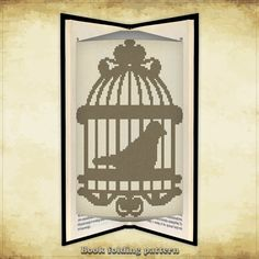 Book folding pattern Bird In Cage 2 for 352 folds - ID0000325